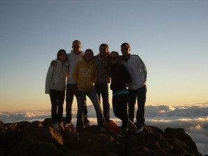 At the top of the Haleakala Volcano
