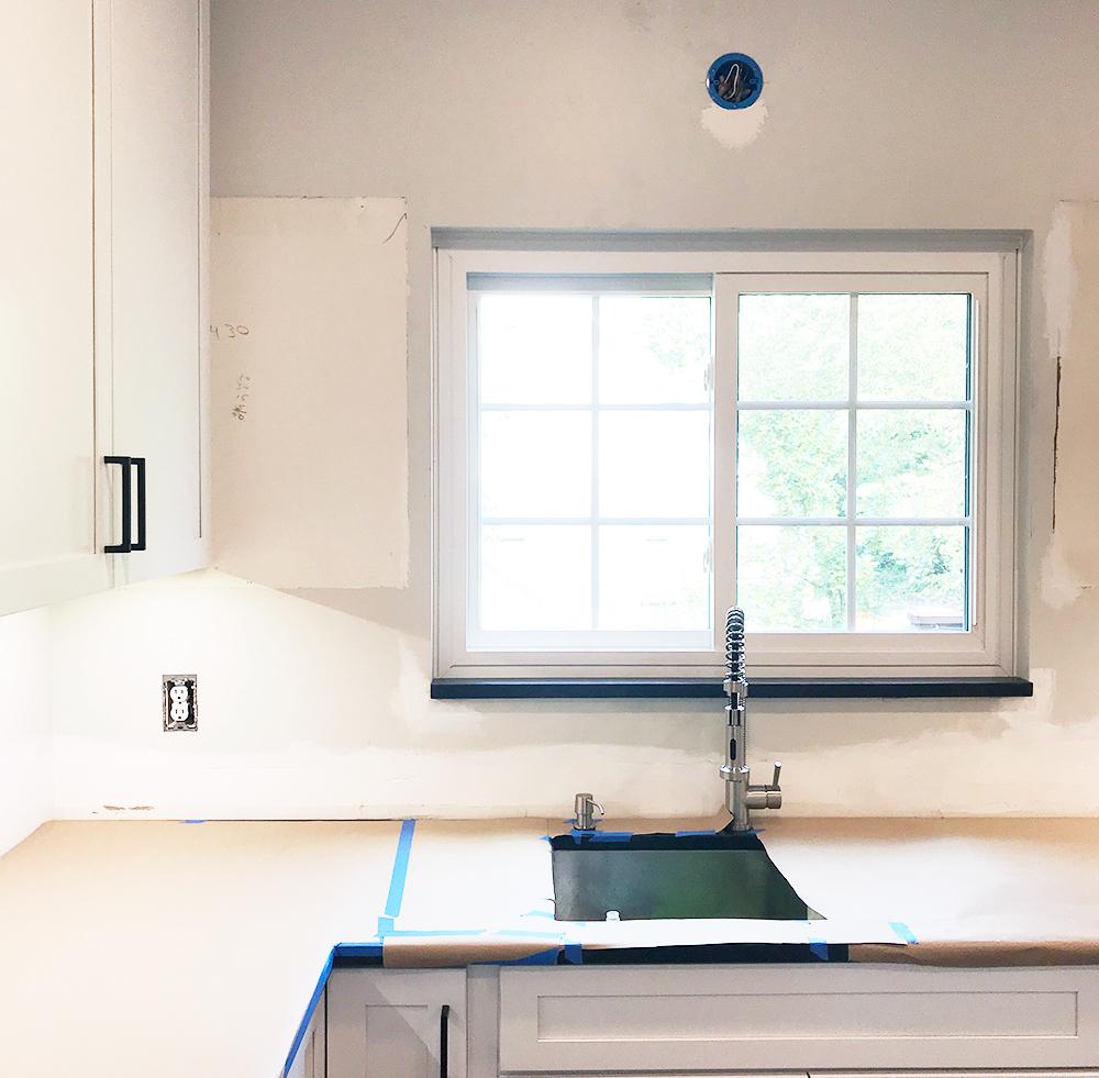 Kitchen Remodel Pt 3 Tiling The Backsplash Megan S Moments,Rustic Grey Distressed Kitchen Cabinets