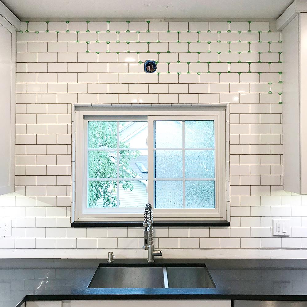 Kitchen Remodel Pt 3 Tiling The Backsplash Megan S Moments
